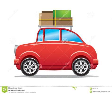 la cremagliera automobile rossa con la cremagliera di bagagli