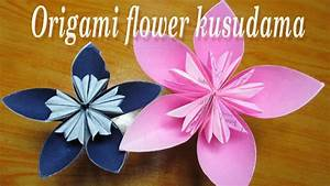 How To Make Origami Kusudama Flower  Easy Origami Flower