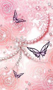 Pink jewels and butterflies | Bling wallpaper, Butterfly ...