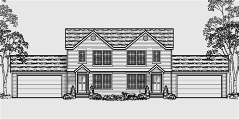 house plans for narrow lots multi family sloping lot plans hillside plans daylight