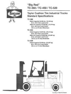 Taylor TC-520 Specifications CraneMarket