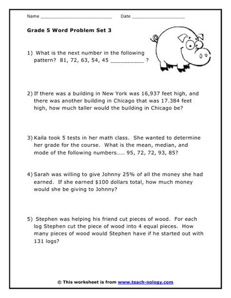 grade  word problems set
