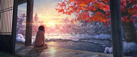 #ultra-wide, #japan, #artwork, #snow, #sunlight
