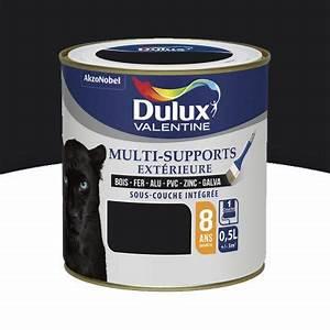 Castorama Peinture Exterieure : peinture ext rieure multi supports noir satin 0 5l castorama ~ Premium-room.com Idées de Décoration