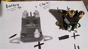 Easy Test Solenoid Riding Lawn Mower Tractor No Start - By Pass Starter - Diagram