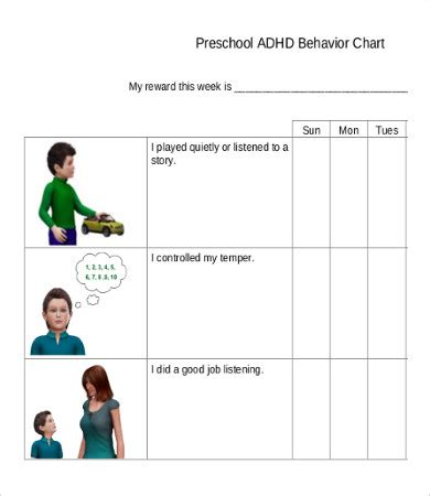 preschool behavior interventions free printable behavior chart 8 free pdf documents 880