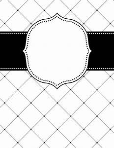 free printable black and white lattice binder cover With black and white binder cover templates