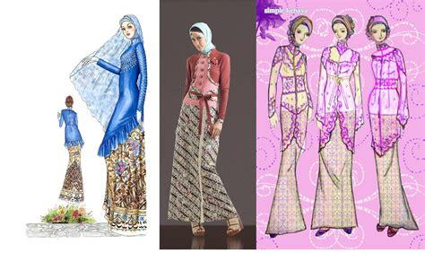 gambar kebaya muslim modern baju muslim terbaru