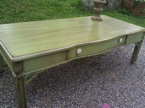 Learn about the sustainable coffee challenge from conservation international. Gorgeous distressed coffee table in olive green. I absolutely love this piece!!! $75 ...