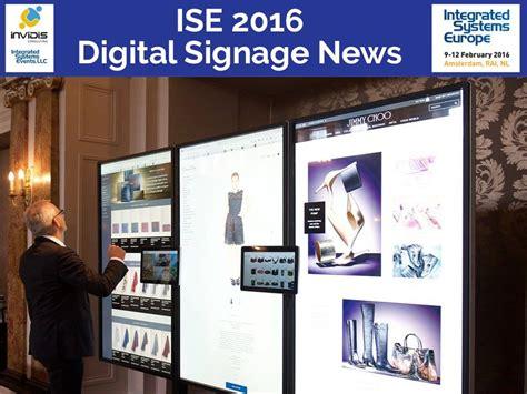 ise 2016 elo touch solutions eigener soc player f 252 r screens invidis