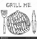 Bbq Drawing Grill Barbecue Getdrawings sketch template