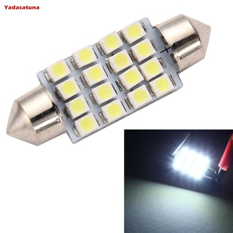 10 lada torpedo 16 3528smd leds luz teto placa smd super branca 39mm 41mm in signal l from