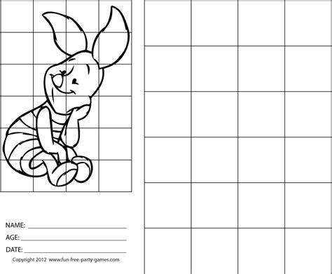 drawing  grids   draw winnie  pooh piglet