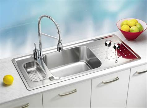 stainless steel kitchen sinks  modern faucets