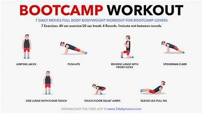 Workout Daily Moves Bootcamp Workouts Done Equipment