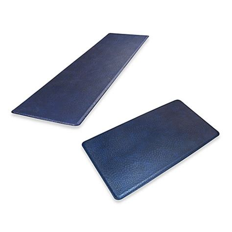blue kitchen floor mats gelpro 174 original gel filled anti fatigue ostrich kitchen 4826