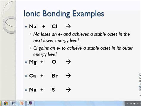 ionic bonds  electron dot structures  ionic compounds