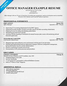 fice Manager Resume Template SampleBusinessResume