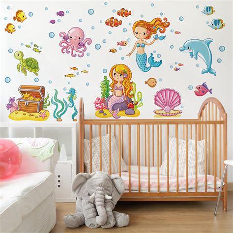 Wandtattoo Kinderzimmer Unterwasserwelt by Wandtattoo Kinderzimmer Meerjungfrau Unterwasserwelt Set