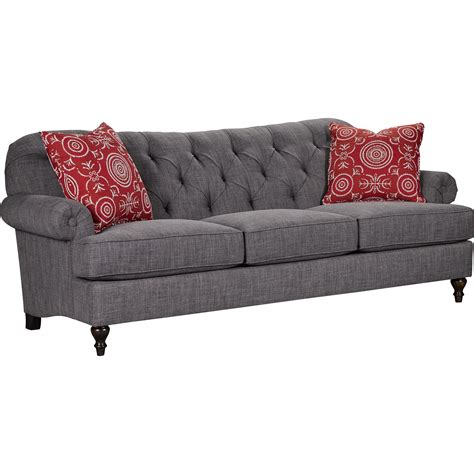 Broyhill Furniture Belle Transitional Sofa With Button