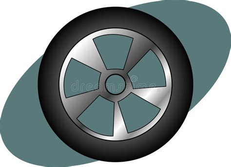 Racing Car, Auto Or Truck Tire. Vector Available. Stock