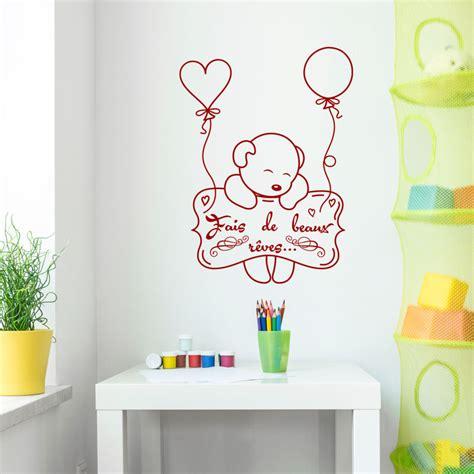 stickers chambre bébé nounours cool stickers muraux pour les enfants sticker citation