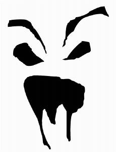 Scary, Face, Pumpkin, Stencil