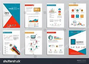 Business Infographics Elements Corporate Brochures Flat ...