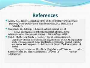Social Learning Theory Akers Social Disorganization Theory