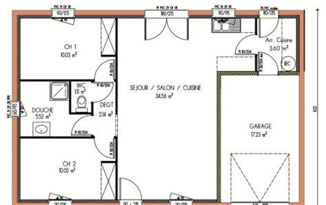 plan maison 2 chambres plan et photos maison 2 chambres de 67 m