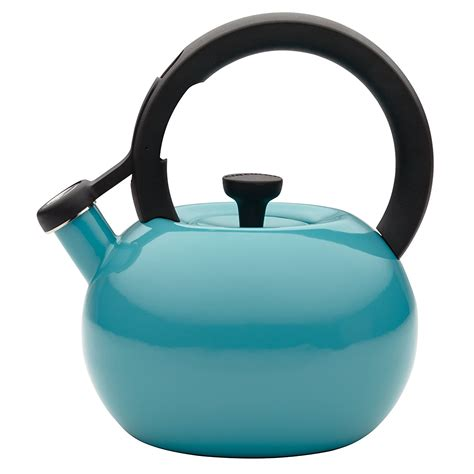 tea turquoise kettle circulon quart whistling teapot teakettle circles kettles induction amazon capri steel teapots pot lid ray rachael teakettles