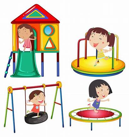 Play Playing Stations Vector Clipart