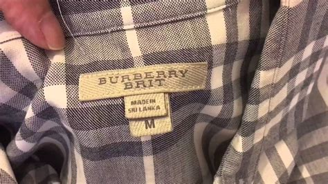 spot  real authentic burberry shirt youtube
