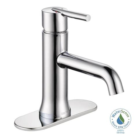 delta kitchen sink faucets delta trinsic single single handle bathroom faucet in