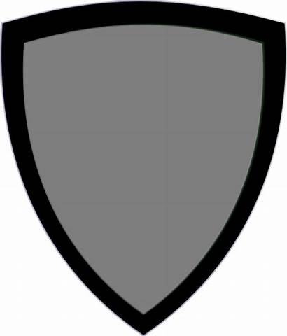 Shield Clipart Clip Template Silhouette Medieval Blank