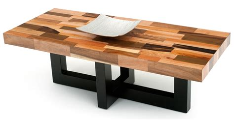 30083 all wood furniture contemporary soft modern coffee table inlay refined rustic