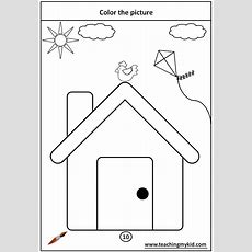 Fun Worksheet For Kids  Color The Picture With Crayons