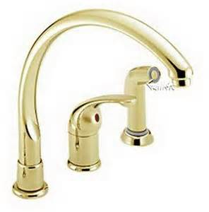 polished brass kitchen faucet delta 172 pbwf waterfall single handle kitchen faucet single handle lever with sidespray in