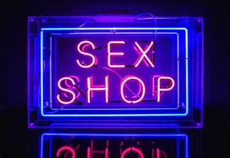 SEX SHOP Kemp London Bespoke Neon Signs Prop Hire Large Format Printing