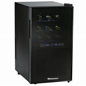 Wine Enthusiast 18-Bottle Dual Zone Silent Touchscreen ...