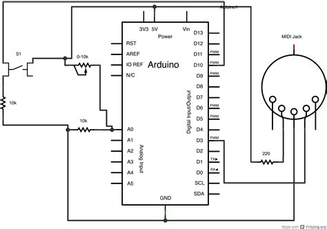 Physical Computing Itp Labs Midi Output Using