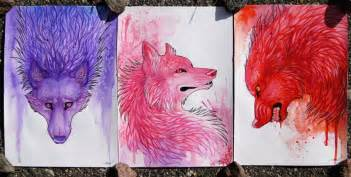 Colorful Wolf Painting Colorful wolves i by  Colorful Wolf Painting