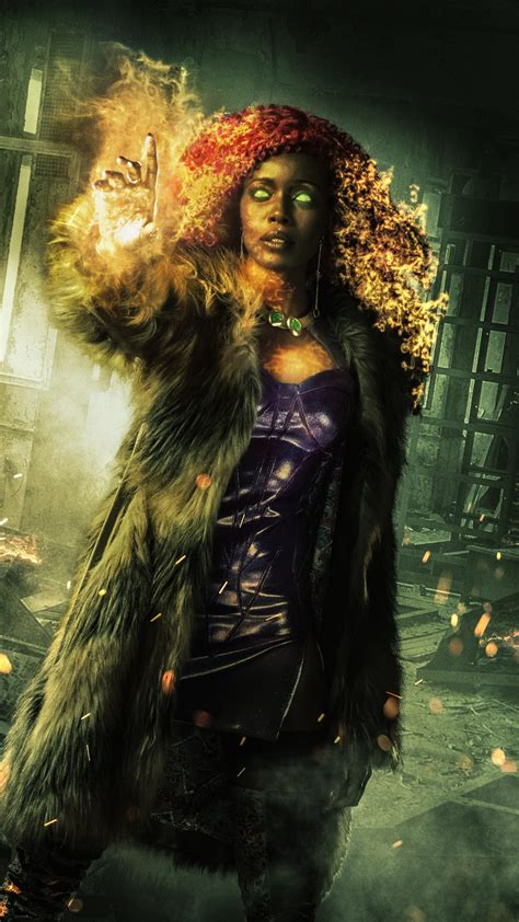 wallpaper starfire titans dc comics anna diop  tv