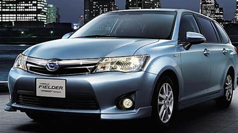 toyota jp toyota corolla axio and corolla fielder hybrids launched