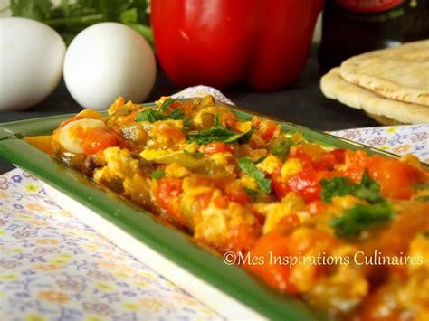 cuisine oeufs chakchouka aux poivrons et oeufs le cuisine de samar
