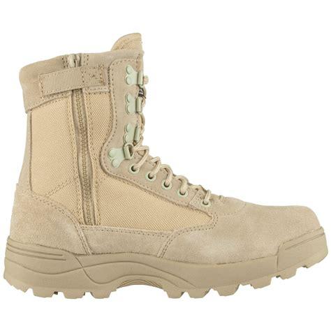 Brandit Tactical Military Combat Side Zip Mens Boots Suede