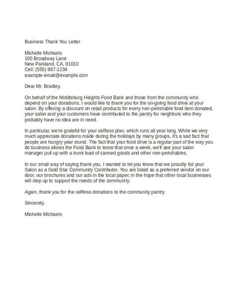 example of business letter 54 formal letter examples and samples pdf doc 21567 | Business Thank You1