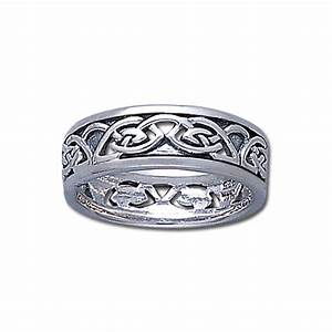 ladies 7mm 0 925 sterling silver irish celtic love knot With celtic love knot wedding rings