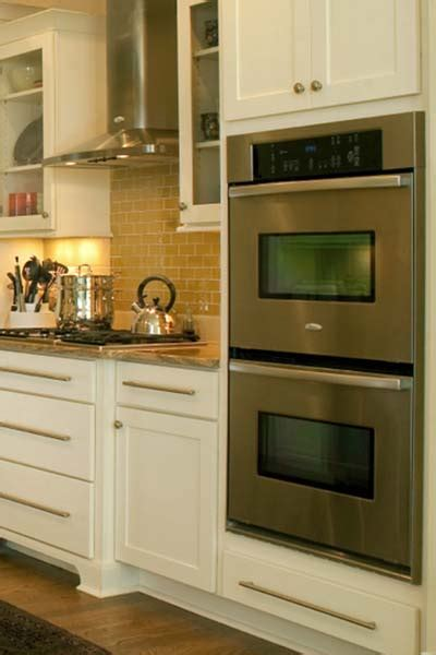 wall oven cabinet built  double oven  microwave