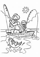 Coloring Fishing Fisherman American His Flag Adult Fly Pusheen Momjunction Sport Printable sketch template